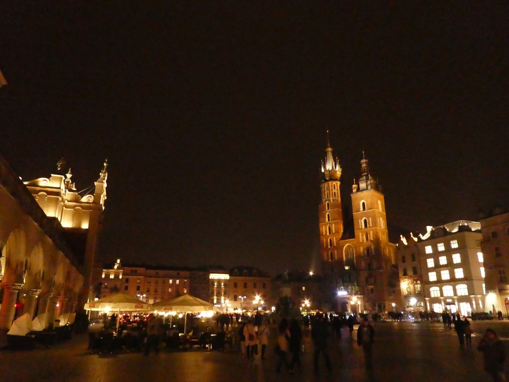Krakau by night
