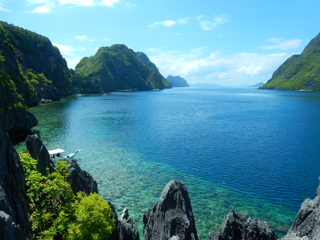 Lagunen auf Palawan